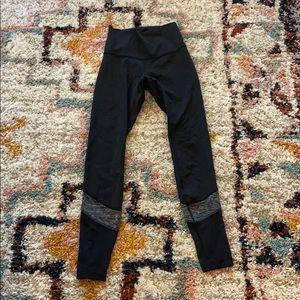 Black Lululemon High Rise Mesh Pants size 6